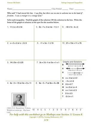 Solve and Graph Inequalities Worksheet Graphing Pound Inequalities Free Worksheets