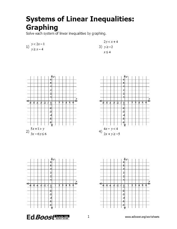 Solve and Graph Inequalities Worksheet solving Systems Inequalities Lessons Tes Teach