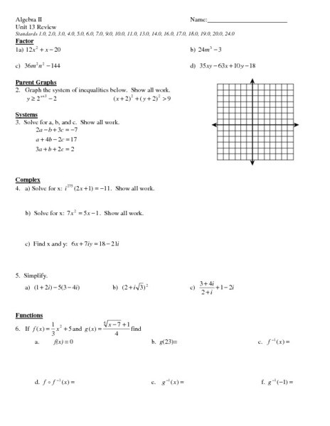 Solving Equations Review Worksheet System Of Equations Review Worksheet for 11th Grade
