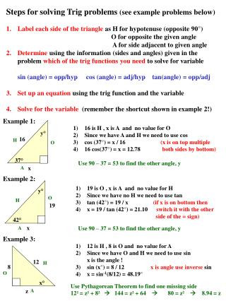 Solving Trigonometric Equations Worksheet Answers Ppt Steps for solving Trig Problems See Example Problems
