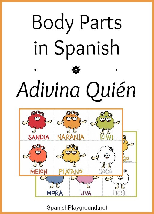 Spanish Body Parts Worksheet Spanish Body Parts Game Adivina Quién Spanish Playground