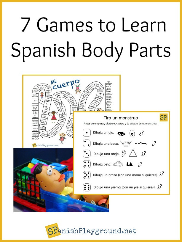 Spanish Body Parts Worksheet Spanish Body Parts Games for Learning Fun Spanish Playground