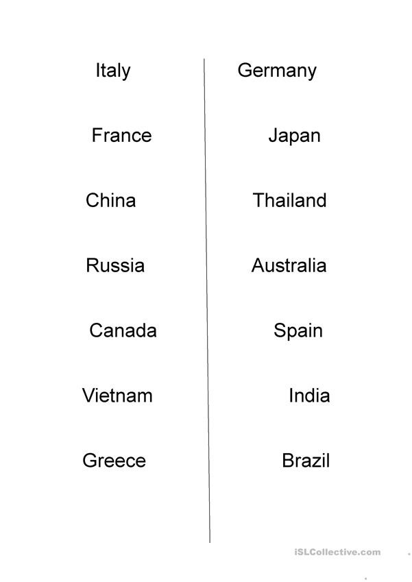 Spanish Speaking Countries Worksheet Guess the Country Worksheet English Esl Worksheets for