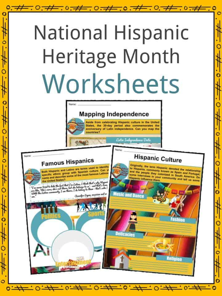 Spanish Speaking Countries Worksheet National Hispanic Heritage Month Facts Worksheets & History