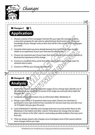 Stages Of Change Worksheet Thinking themes Book B by Outside the Box Learning