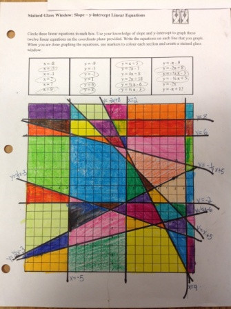 Stained Glass Windows Worksheet Erlcmath10c Engaging Resources Linear Equations & Graphs