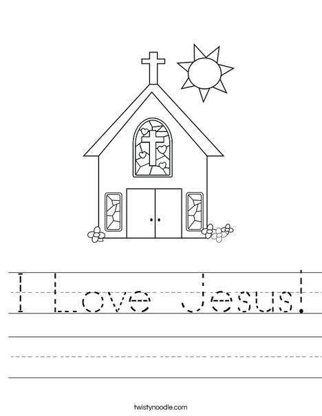 Stained Glass Windows Worksheet I Love Jesus Worksheet Twisty Noodle