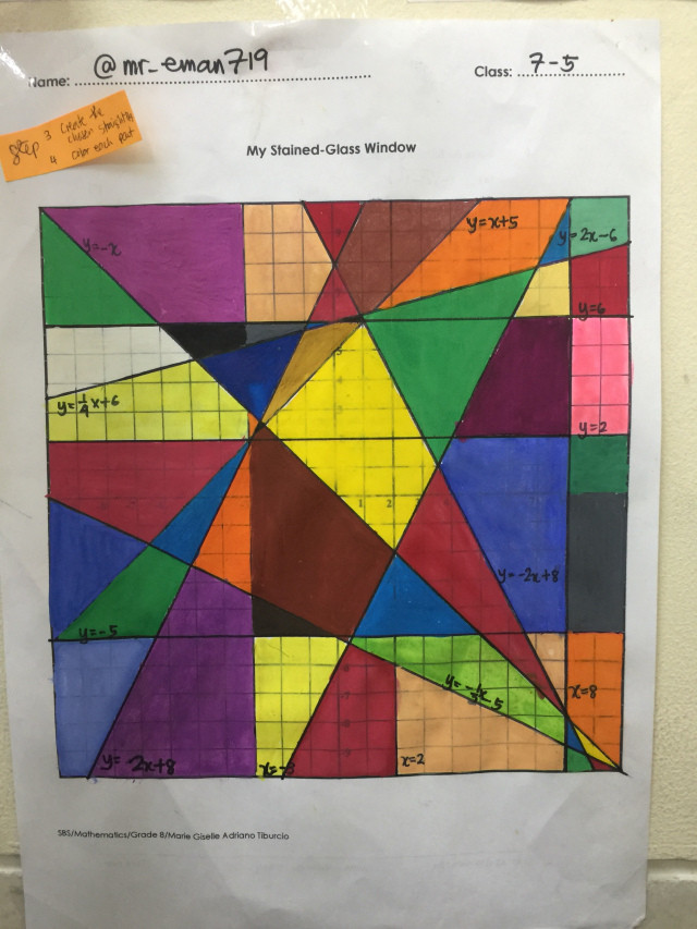 Stained Glass Windows Worksheet My Stained Glass Window Project – Math Medicine