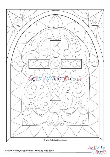 stained glass window colouring page 460 2