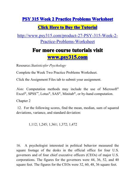 Standard Deviation Worksheet with Answers Standard Deviation Practice Problems Worksheet with Answers