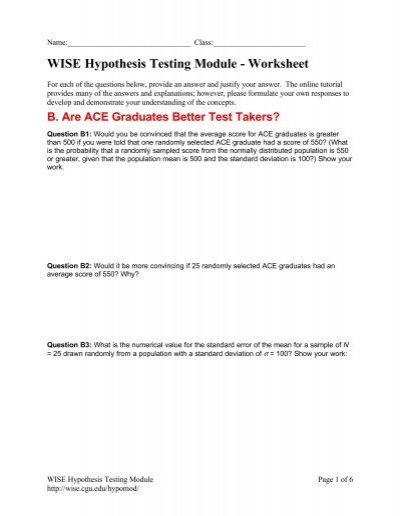 Standard Deviation Worksheet with Answers Tutorial Worksheet Wise