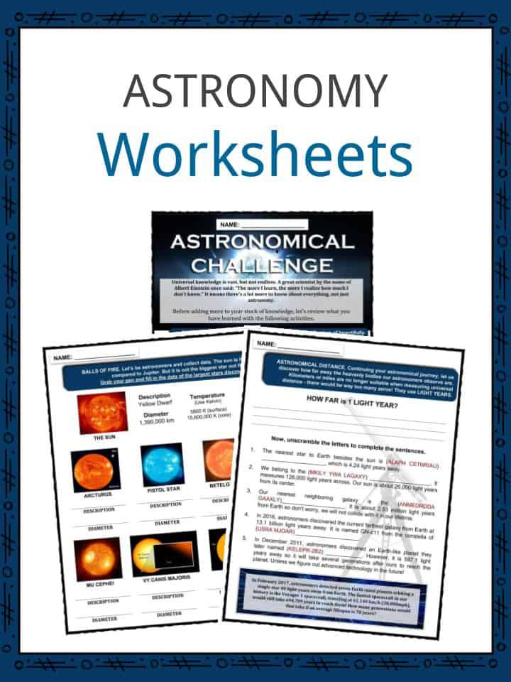 Stars and Galaxies Worksheet Answers astronomy Facts Worksheets Ancient Modern & Impact for Kids