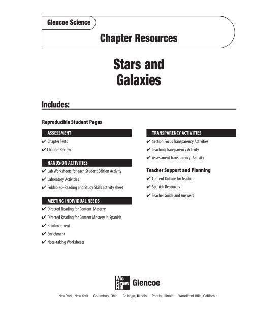 chapter 16 resource stars and galaxies