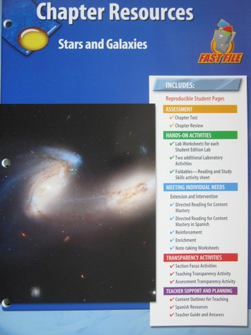 Stars and Galaxies Worksheet Answers Glencoe Physical Science Chapter Resources Stars & Galaxies