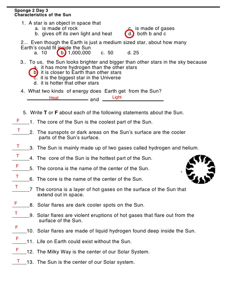 Stars and Galaxies Worksheet Answers order Of Planets Worksheet Answers