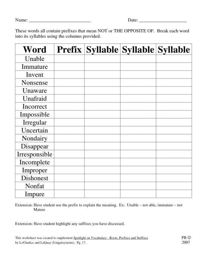 Suffix Worksheets Middle School Prefix and Suffix Worksheets Worksheets Prefix and Suffix