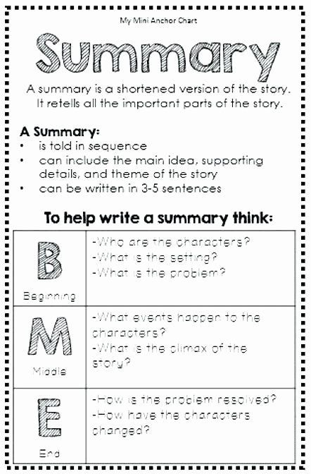 Summary Worksheets Middle School Pin On Examples Printable Preschool Worksheets