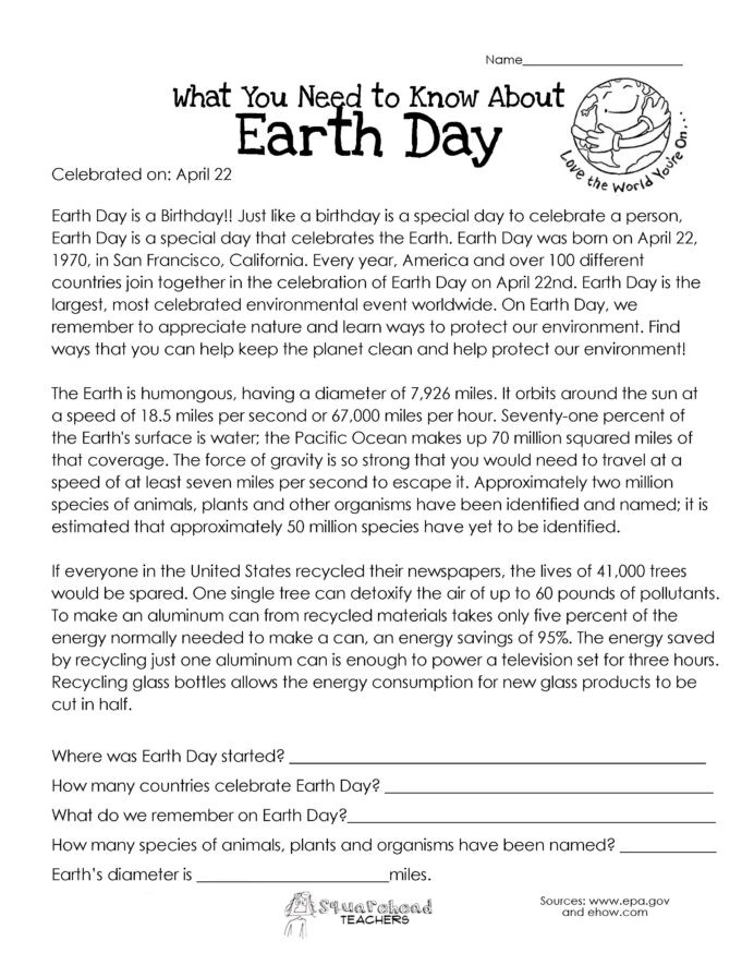 Summary Worksheets Middle School You Need to Know About Earth Worksheets Middle School
