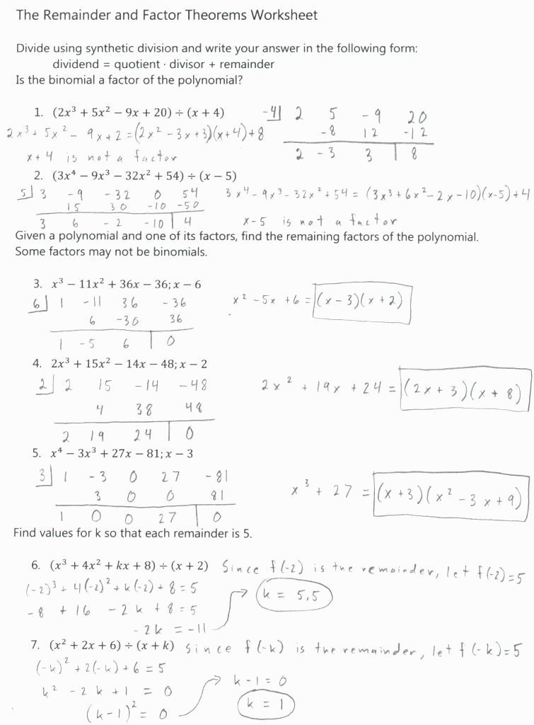 Synthetic Division Worksheet with Answers 30 Synthetic Division Worksheet with Answers Pdf Worksheet