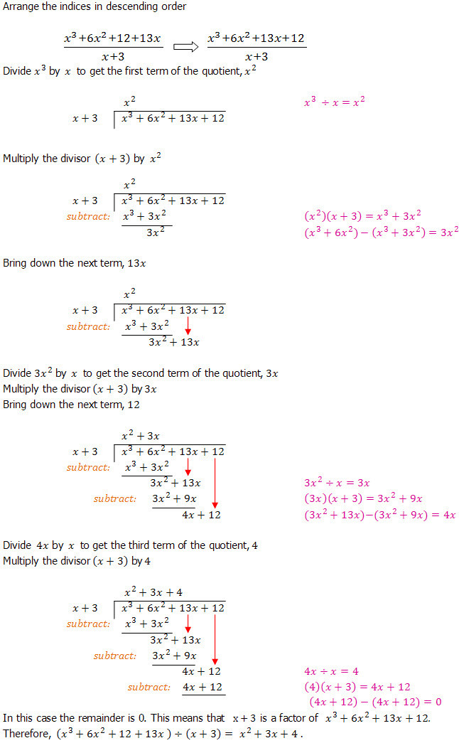 Synthetic Division Worksheet with Answers Algebraic Long Division An Introduction Dividing