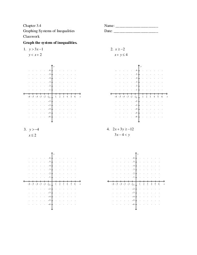 Systems Of Inequalities Worksheet 7 6 solving Systems Of Inequalities Cw Mixed forms