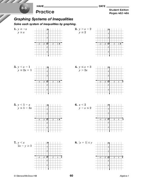 Systems Of Inequalities Worksheet Graphing Systems Of Inequalities Worksheet for 9th 11th