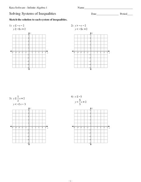 Systems Of Inequalities Worksheet solving Systems Of Inequalities Worksheet for 9th 11th