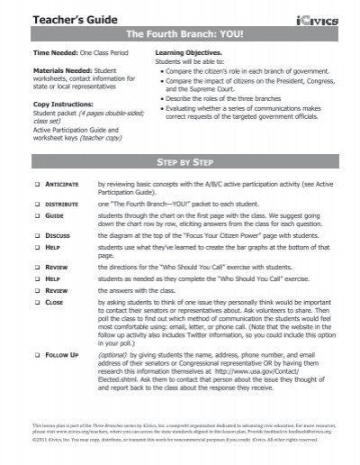 The Executive Branch Worksheet Teacher S Guide Icivics