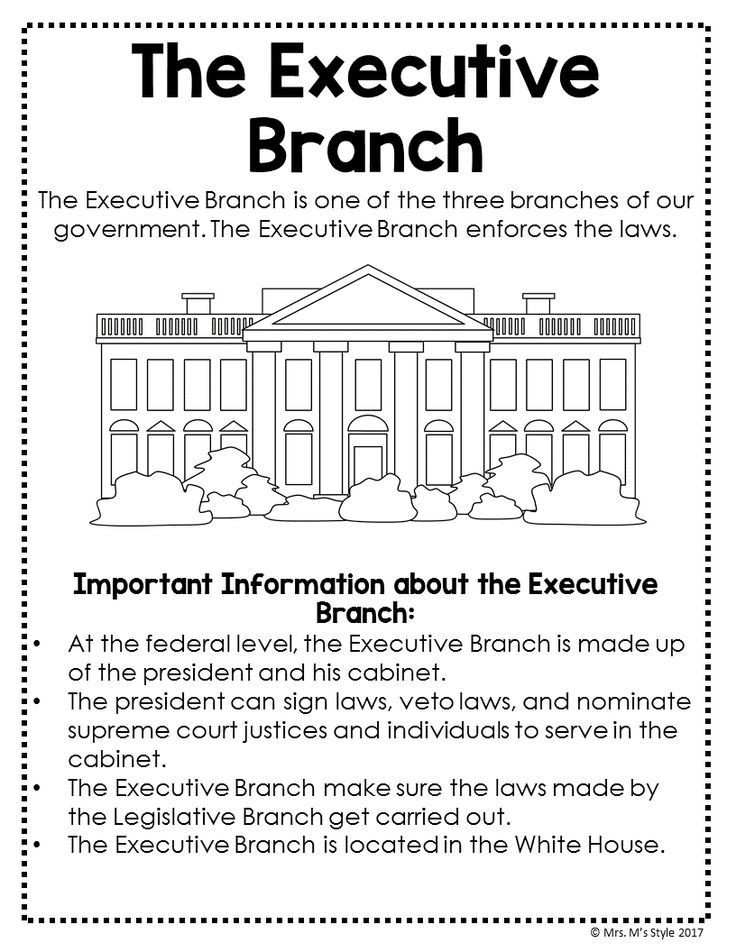 The Executive Branch Worksheet the Executive Branch social Stu S Anchor Chart Perfect