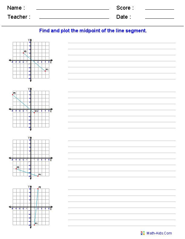 The Midpoint formula Worksheet Answers Geometry Worksheets