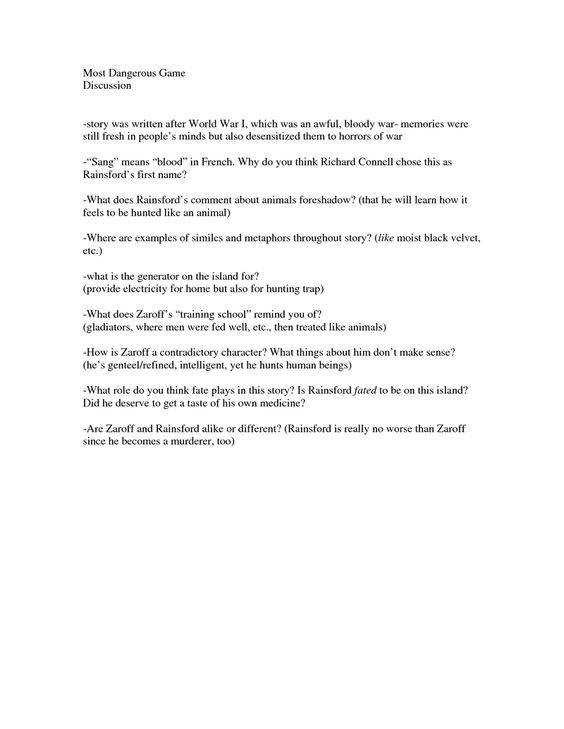 The Most Dangerous Game Worksheet 29 the Most Dangerous Game Vocabulary Worksheet Worksheet