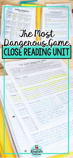 "The Most Dangerous Game Worksheet 43 Best Teaching ""the Most Dangerous Game"" Images"