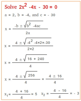 The Quadratic formula Worksheet solve Using the Quadratic formula