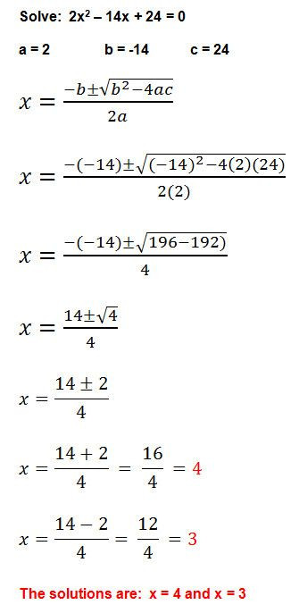 The Quadratic formula Worksheet solving Quadratic Equations by Factoring Worksheet Answers