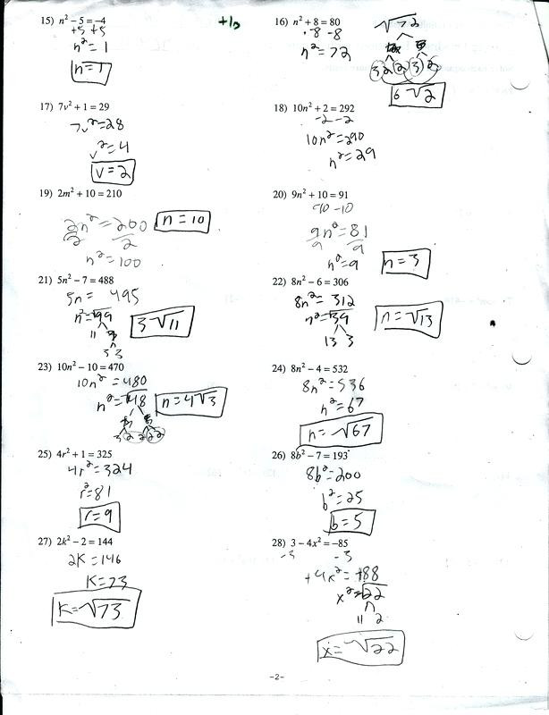 The Quadratic formula Worksheet solving Quadratic Equations Using the Quadratic formula