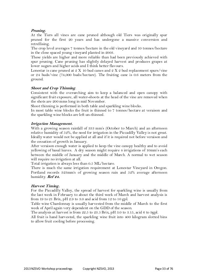 The Roaring Twenties Worksheet 2013 Nzsvo Chardonnay Workshop Proceedings