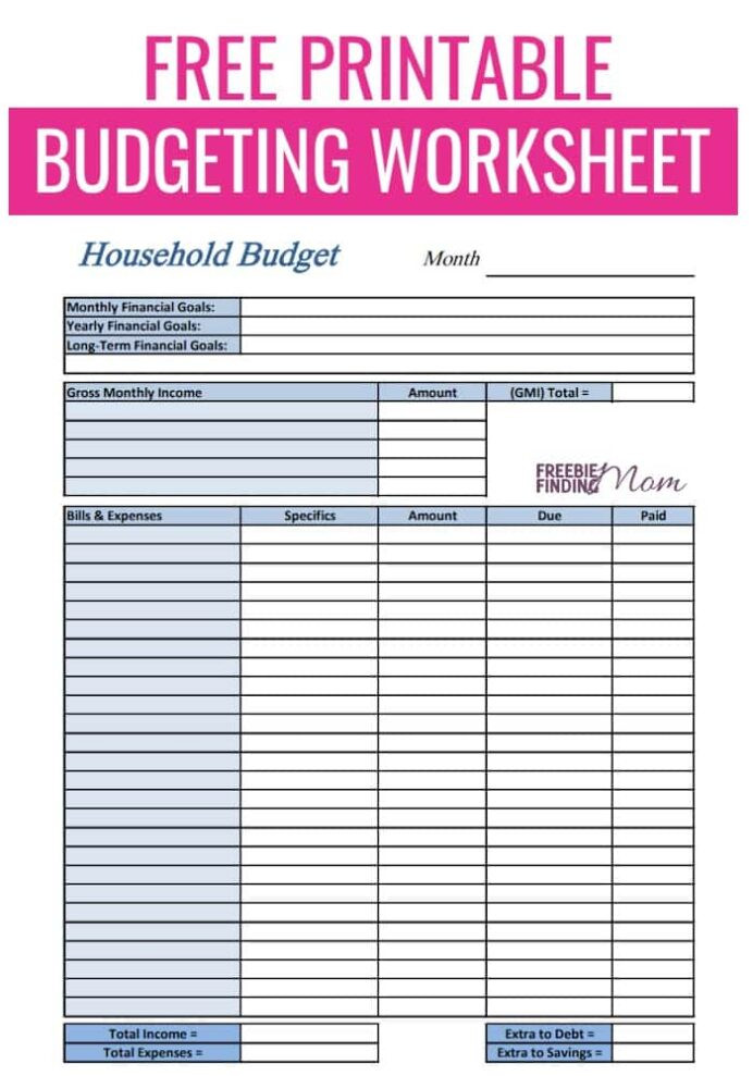 The Student Budget Worksheet Answers Free Printable Bud Worksheets Bud Ing for Beginners Pin