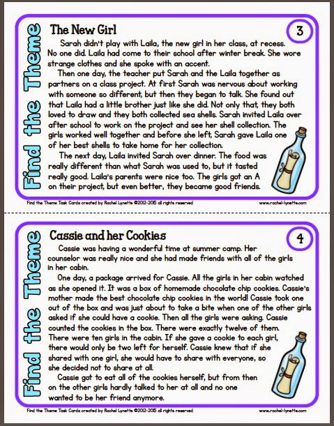 Theme Worksheet Middle School Ideas for Teaching theme and A Couple Freebies Minds In