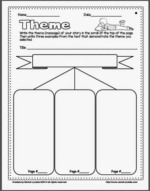 Theme Worksheets High School Ideas for Teaching theme and A Couple Freebies Minds In