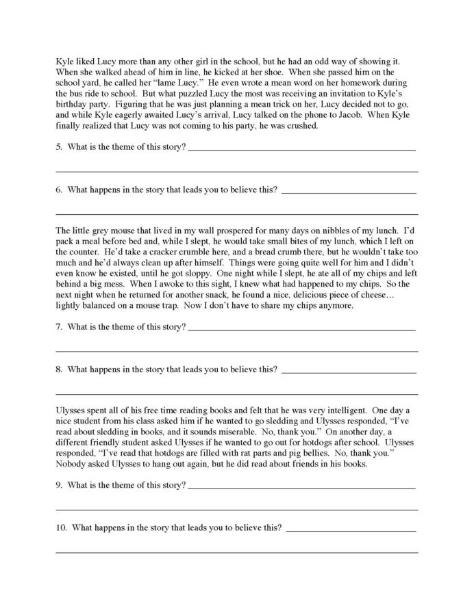Theme Worksheets High School theme Worksheet Answers Ereading Worksheets Math High School