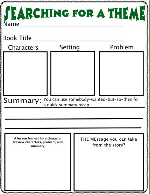 Theme Worksheets Middle School Pdf theme Go From Angela Bunyi