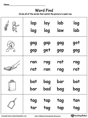 Three Letter Word Worksheets 3 Letter Word Building Puzzles at Lakeshore Learning Short