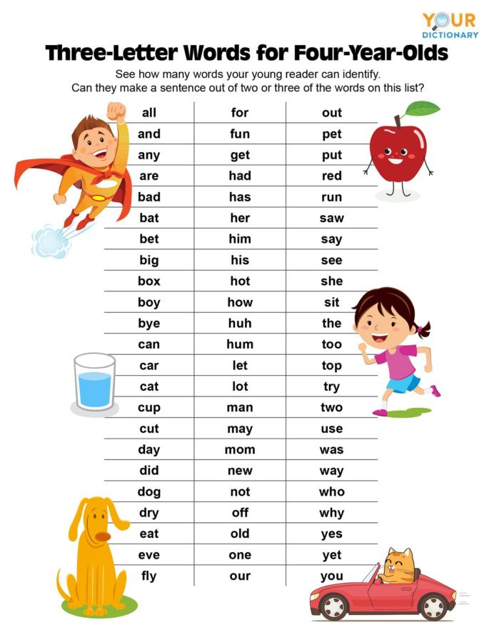 Three Letter Word Worksheets Three Letter Words for Year Olds Phonics Worksheets Dividing
