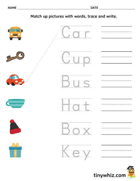 Three Letter Word Worksheets Three Letter Words Worksheet for Kindergarten لم يسبق له