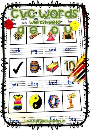Three Letter Word Worksheets Three Letter Words Worksheets Free