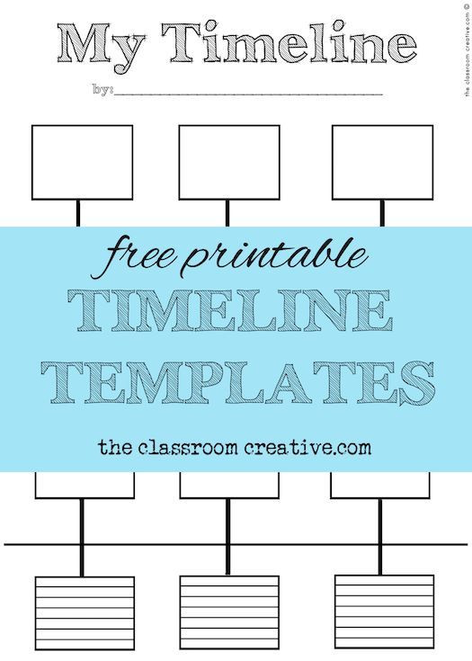 Timeline Worksheets for Middle School Free Printable Timeline Templates theclassroomcreative