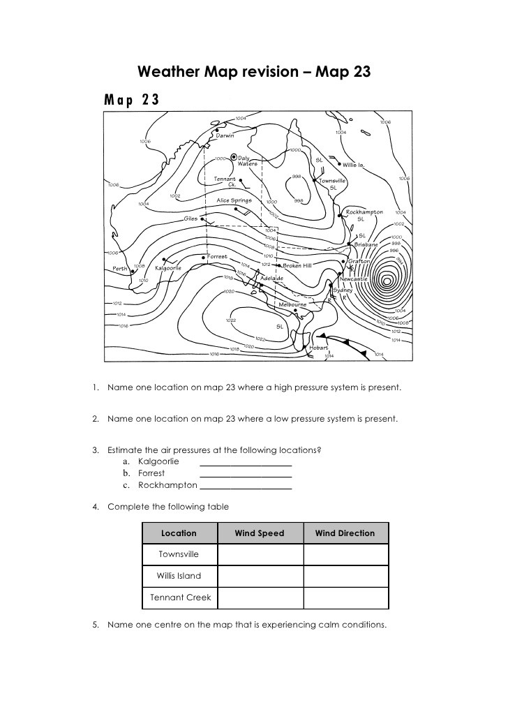 Topographic Map Reading Worksheet Answers Geography Skills Revision