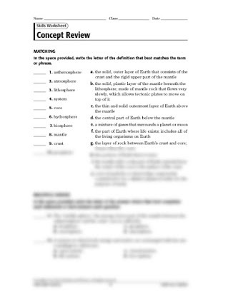 Topographic Map Reading Worksheet Answers Skills Worksheet Concept Review Answer Key