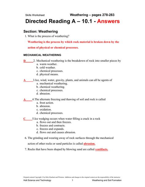 Topographic Map Reading Worksheet Answers soil Conservation Directed Reading Answer Key Google Dakbw