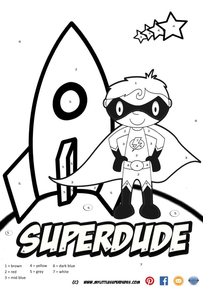 Touch Math Addition Worksheet Superdude Color by Numbers Created In touch Math Addition